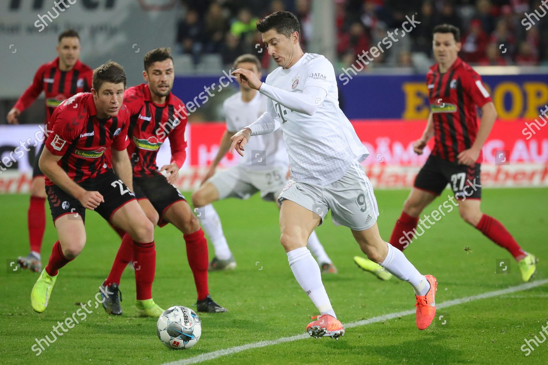 Bayerns Robert Lewandowski 2r Action During German Editorial Stock