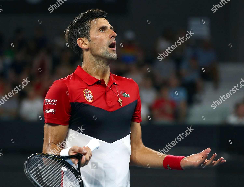Novak Djokovic Atp Cup 2020 Novak Djokovic Editorial Stock Photo Stock Image Shutterstock