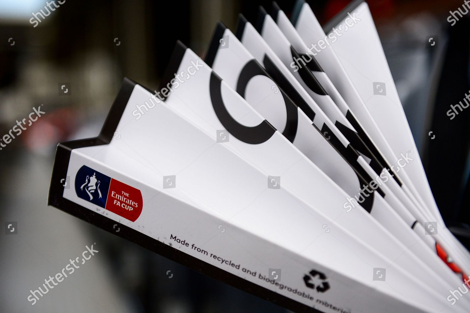 Emirates Fa Cup Logo On Clapper Editorial Stock Photo Stock Image Shutterstock