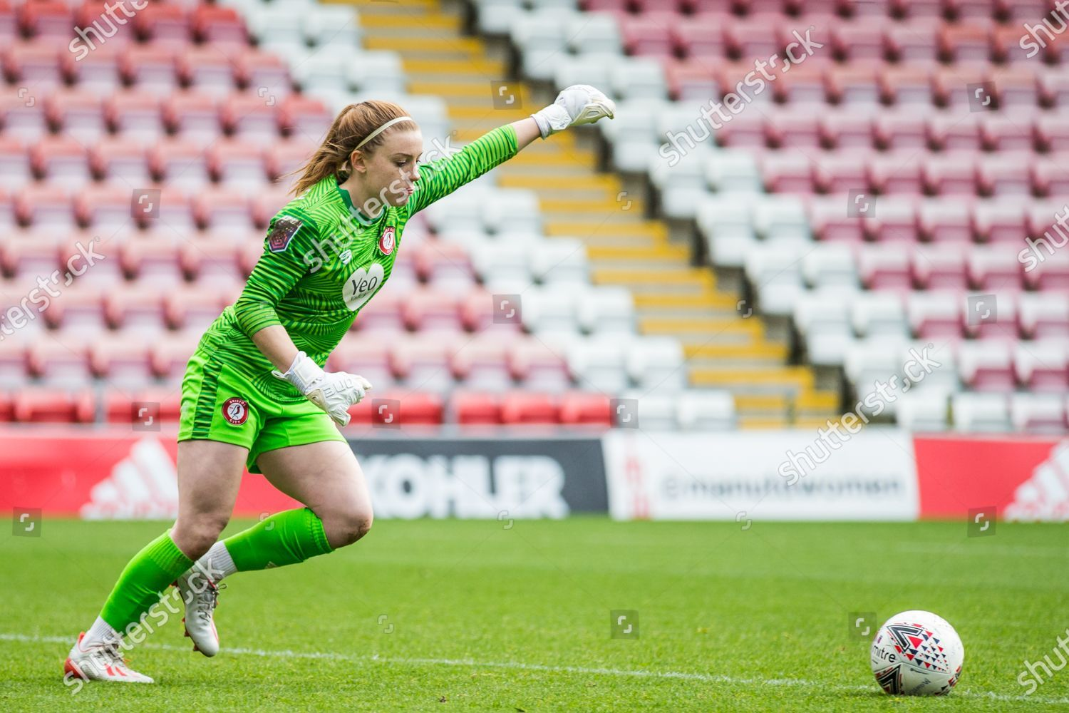 Bristol City Goalkeeper Sophie Baggaley 1 gets Editorial Stock ...