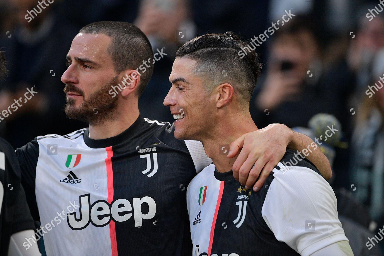 Cristiano Ronaldo Juventus Fc Celebrates After Scoring Editorial