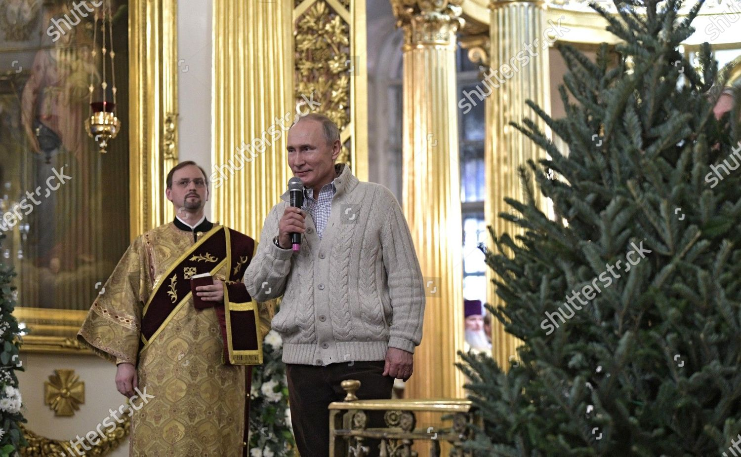 Russian President Vladimir Putin Attends Midnight Orthodox Editorial Stock Photo Stock Image Shutterstock