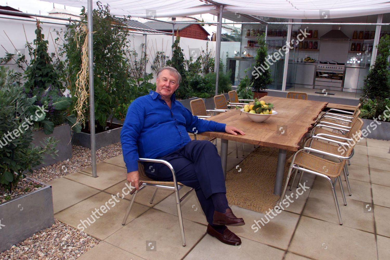 Sir Terence Conran Pictured Chefs Roof Garden Editorial Stock