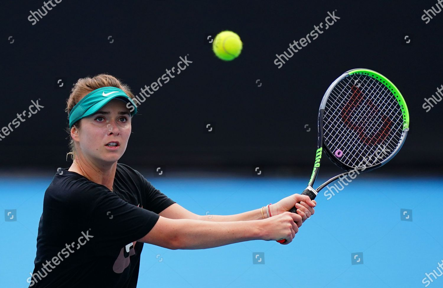 Elina Svitolina Ukraine Plays Shot Practice Session