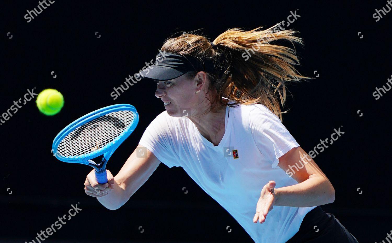 Maria Sharapova Russia Plays Shot Practice Session Editorial