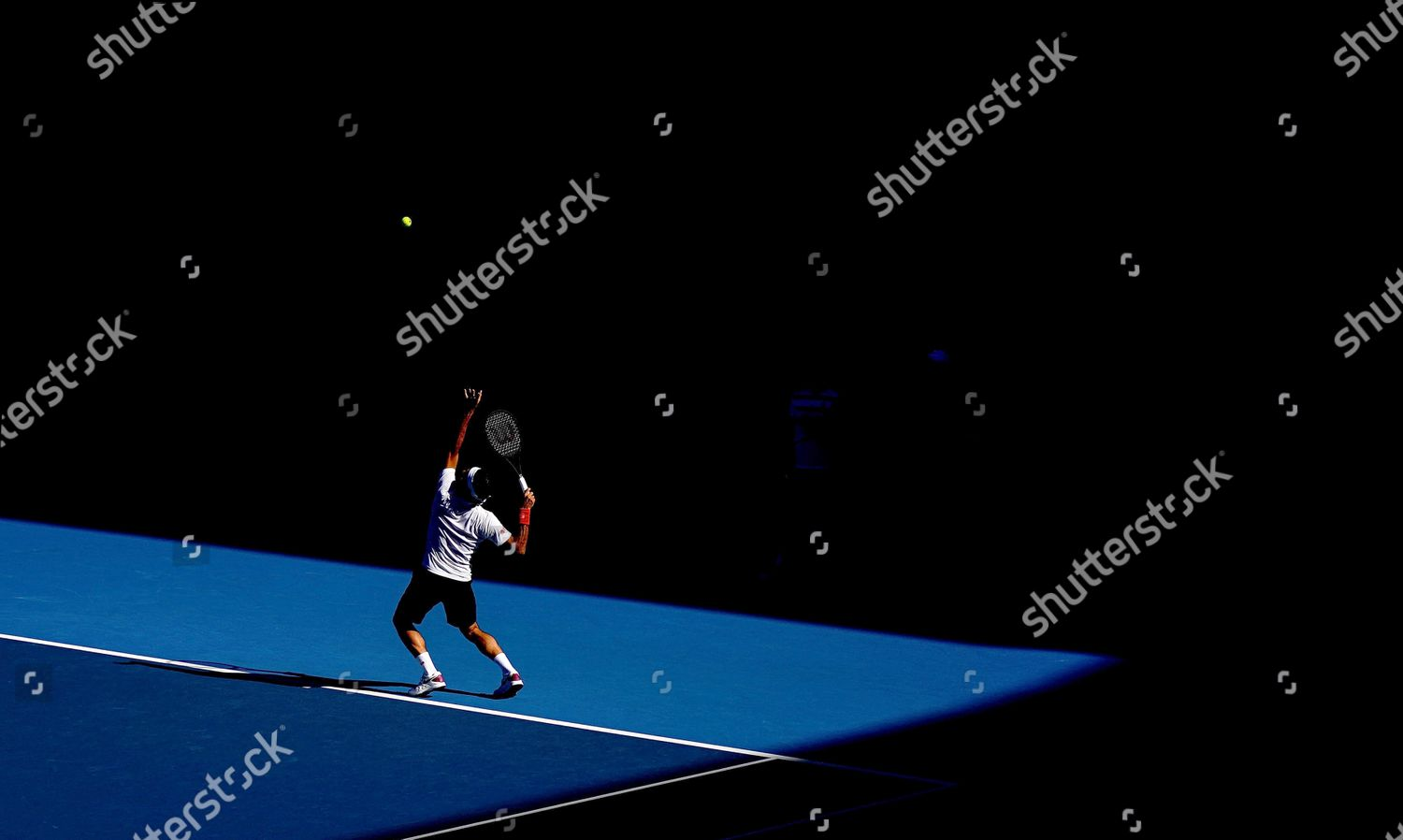 Roger Federer Switzerland Serves Practice Session During