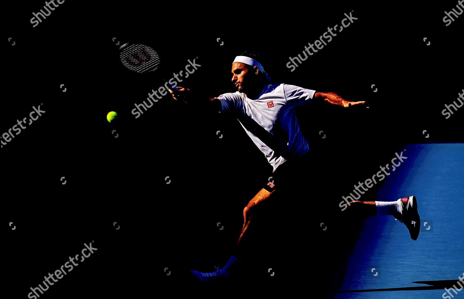 Roger Federer Switzerland Stretches Forehand Practice