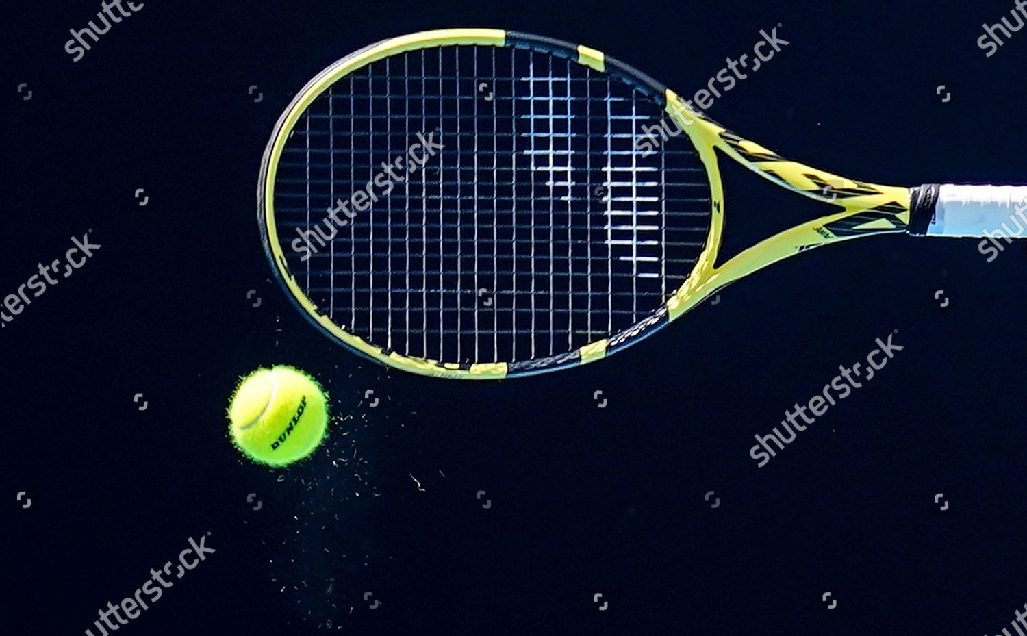 General View Ao Tennis Ball Tennis Racquet Editorial Stock