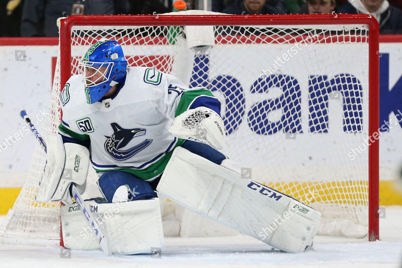 Vancouver Canucks Goalie Jacob Markstrom Sweden Second Editorial Stock Photo Stock Image Shutterstock