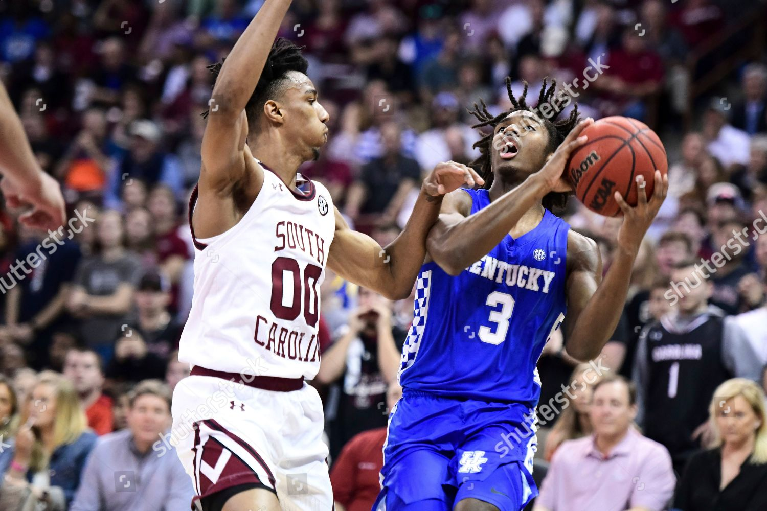 Kentucky Guard Tyrese Maxey 3 Defended By Editorial Stock