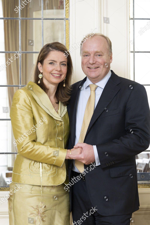 Stock photo of Prince Carlos de Bourbon family Christmas card photo session, The Hague, The Netherlands - 03 Nov 2019