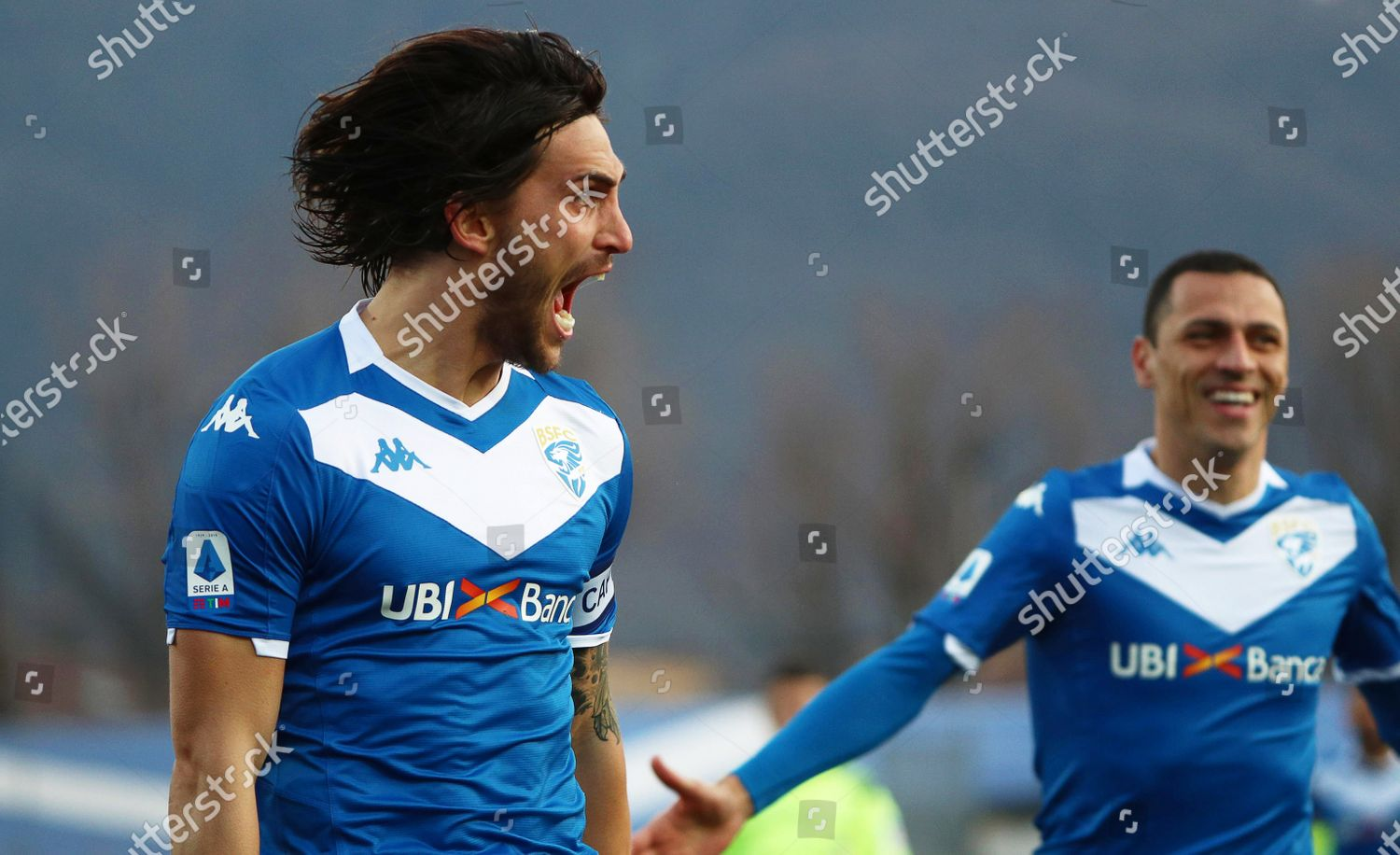 Brescias Ernesto Torregrossa L Celebrates After Scoring Editorial Stock Photo Stock Image Shutterstock