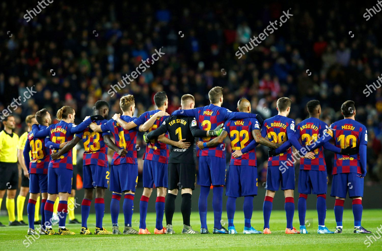 Fc Barcelonas Players Prior Spanish Laliga Soccer Editorial Stock Photo Stock Image Shutterstock
