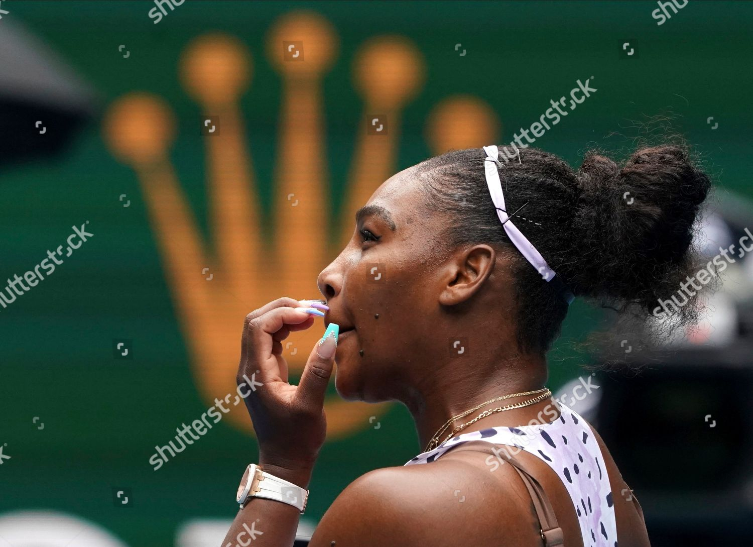 United States Serena Williams Reacts During Her Editorial