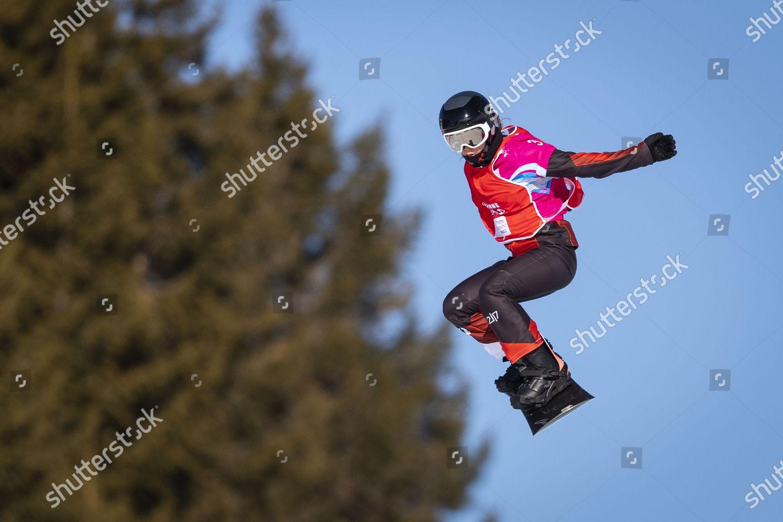 action kerst 2020 Team Switzerland gold medalist Anouk Doerig action Editorial Stock
