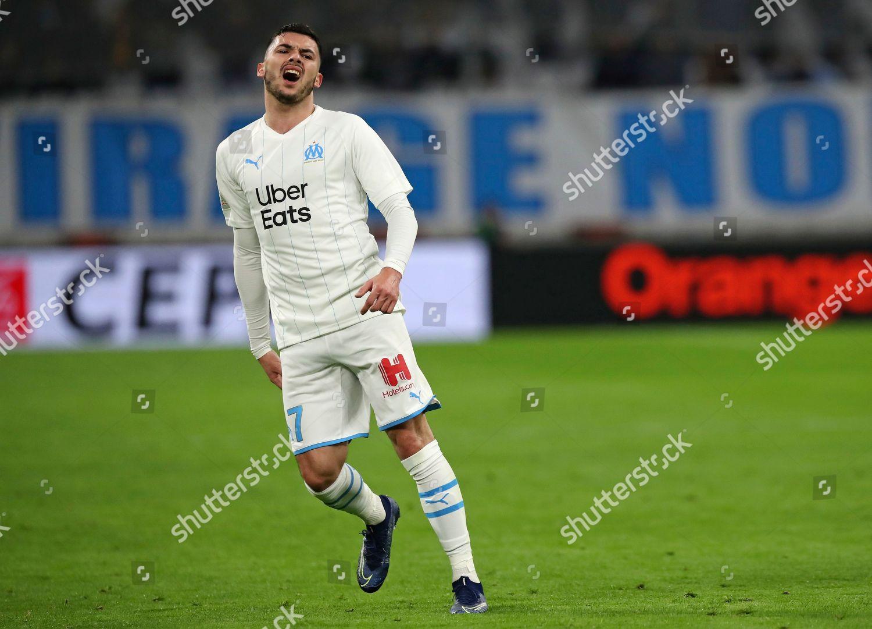 Marseilles Nemanja Radonjic reacts during French League Editorial ...