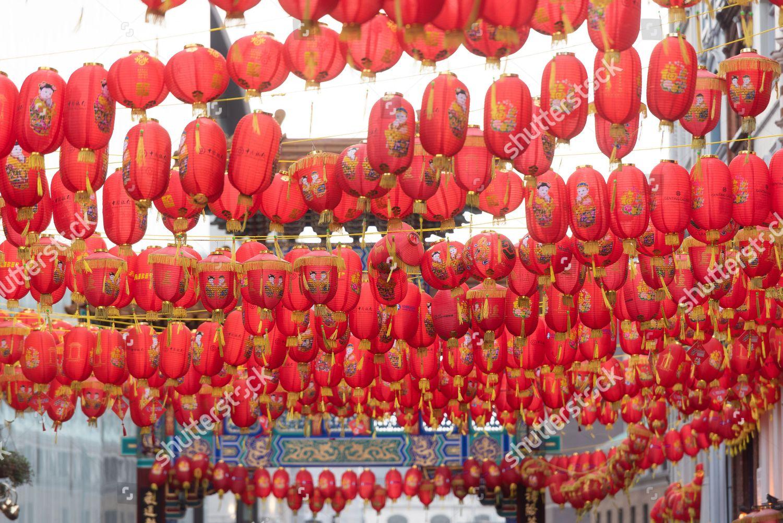 Red Lanterns Chinatown Editorial Stock Photo Stock Image Shutterstock