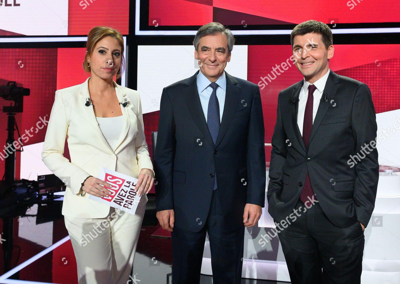 Lea Salame Francois Fillon Thomas Sotto Editorial Stock Photo Stock Image Shutterstock