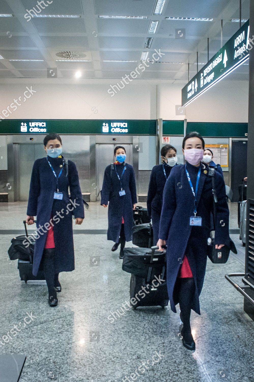 Aircrew Wearing Masks Arrive Milan Malpensa Airport Editorial Stock Photo Stock Image Shutterstock