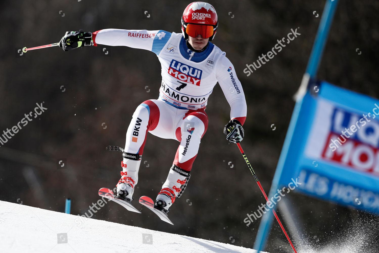 Switzerlands Loic Meillard Speeds Down Slope During Editorial Stock Photo Stock Image Shutterstock