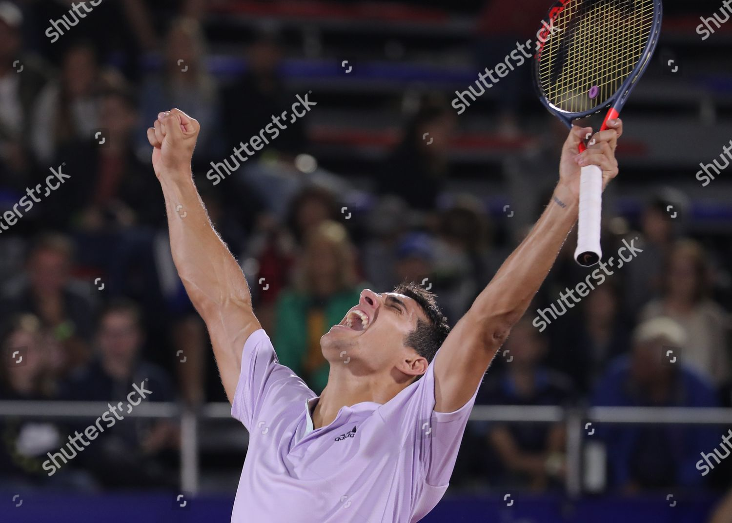 Chilean Tennis Player Cristian Garin Celebrates After Editorial Stock Photo Stock Image Shutterstock