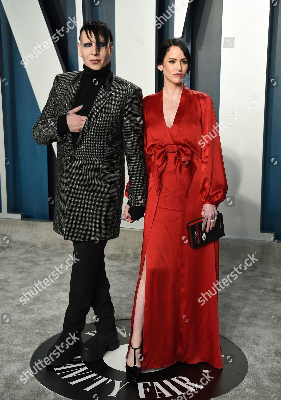 Lindsay Usich Right Marilyn Manson Arrive Vanity Foto Editorial Imagem De Banco Shutterstock