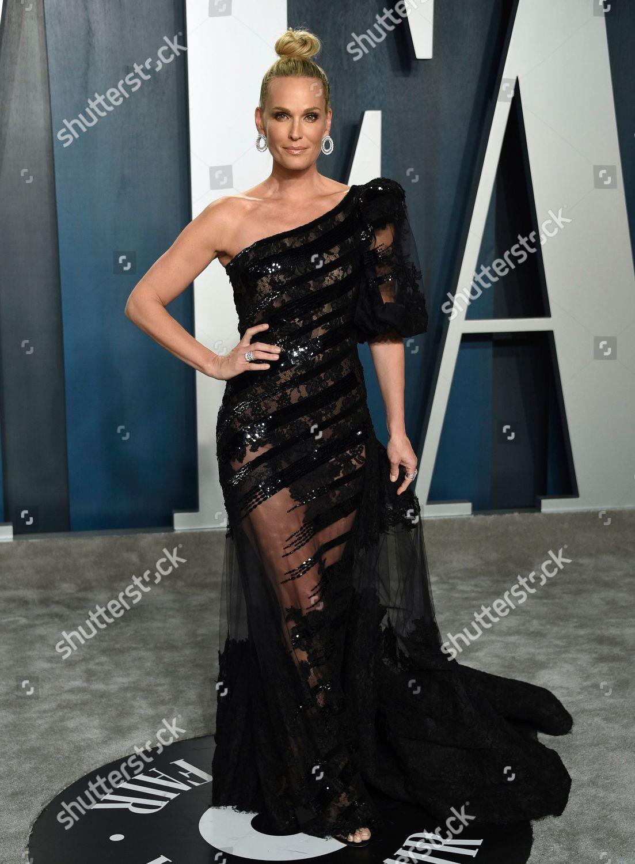 Molly Sims Arrives Vanity Fair Oscar Party Foto Editorial Imagem De Banco Shutterstock