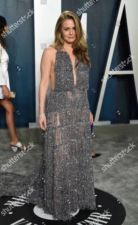 Alicia Silverstone Arrives Vanity Fair Oscar Party Foto Editorial Imagem De Banco Shutterstock