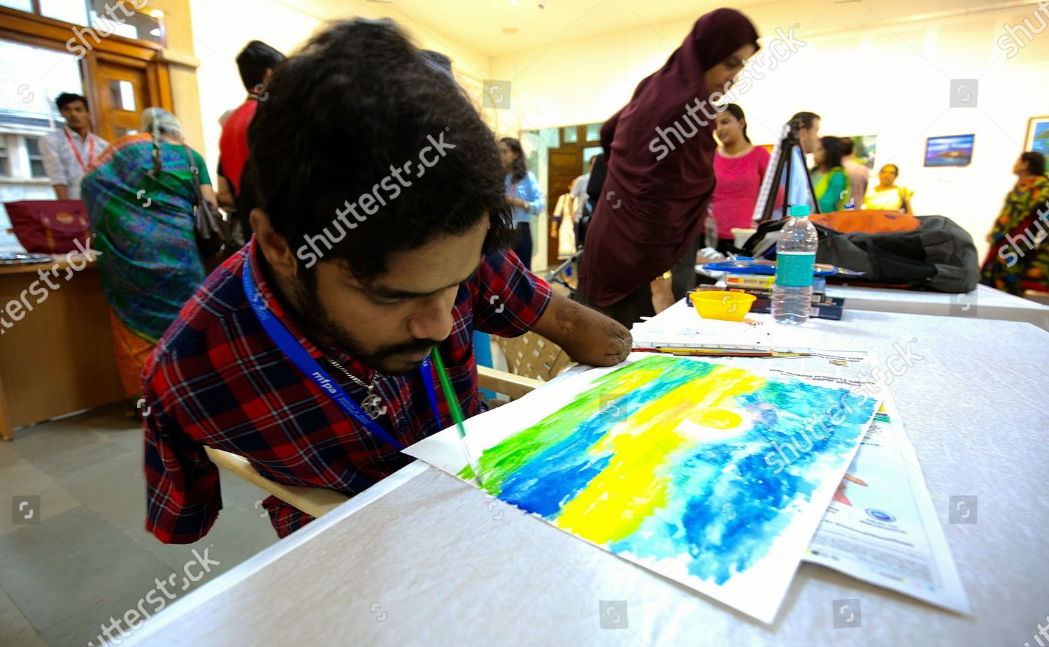 Members Mouth Foot Painting Artists Mfpa International Editorial Stock Photo Stock Image Shutterstock