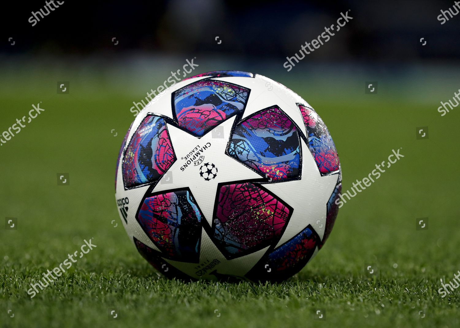 official champions league ball on pitch editorial stock photo stock image shutterstock 2