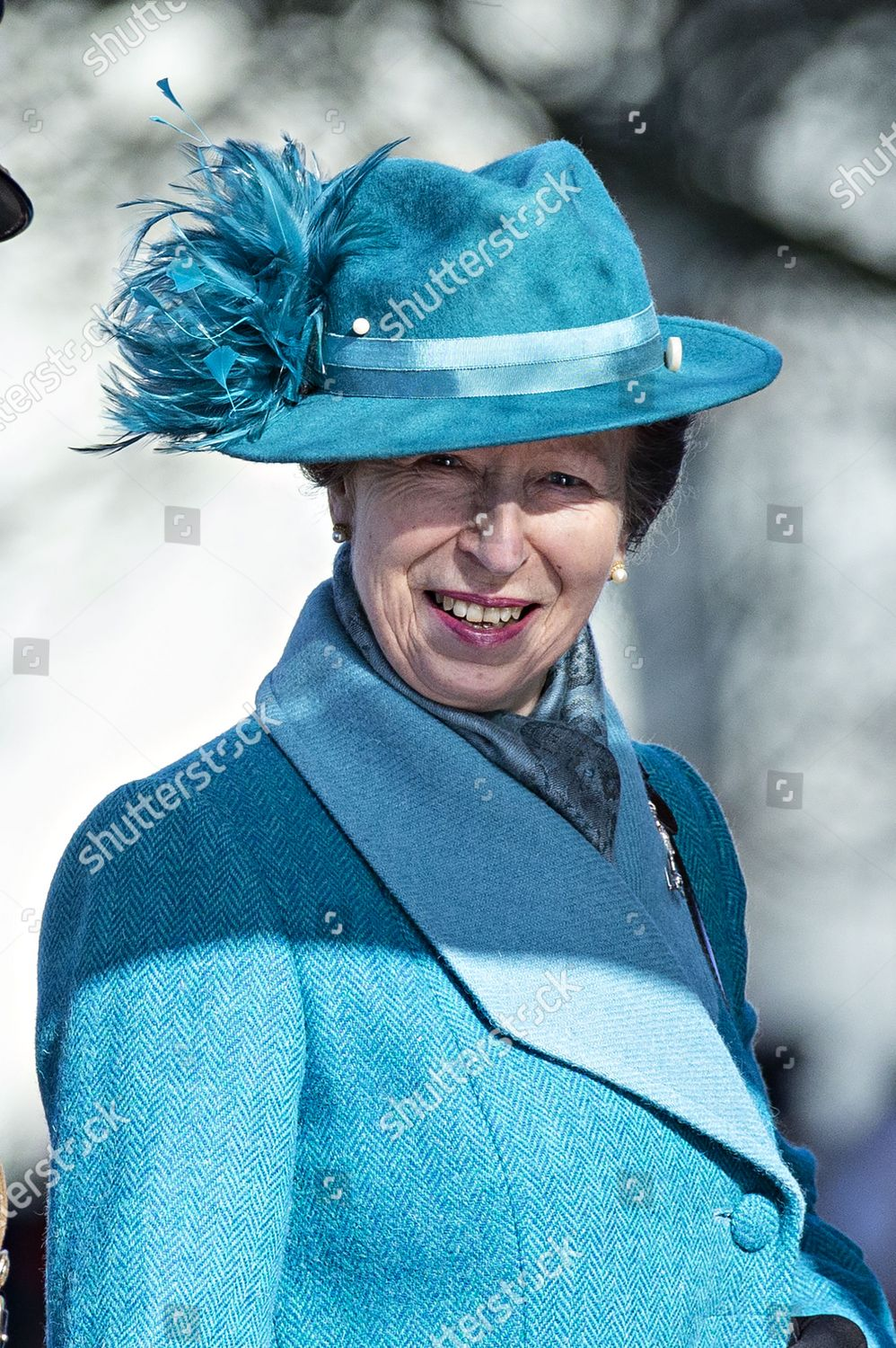 Stock photo of Princess Anne attends The Royal Corps of Signals Centenary Service, Salisbury Cathedral, Wiltshire, UK - 29 Feb 2020