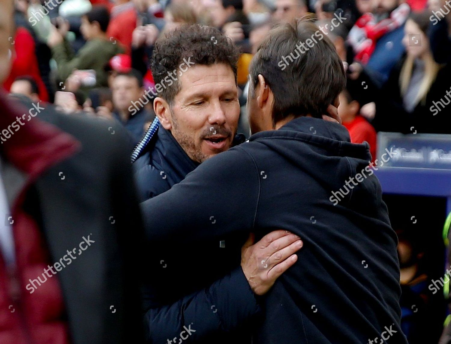 Atletico Madrids head coach Diego Simeone L Editorial Stock Photo - Stock  Image