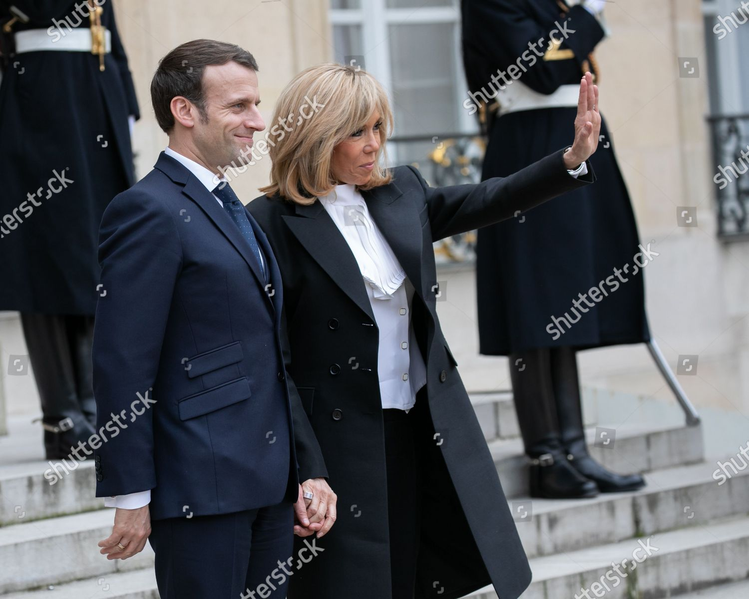 Brigitte Macron French President Emmanuel Macron Elysee Editorial Stock Photo Stock Image Shutterstock