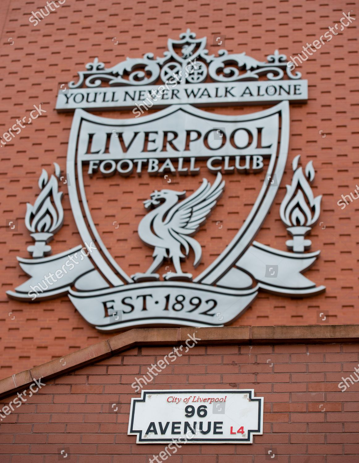 General View Liverpool Badge On Main Stand Editorial Stock Photo Stock Image Shutterstock
