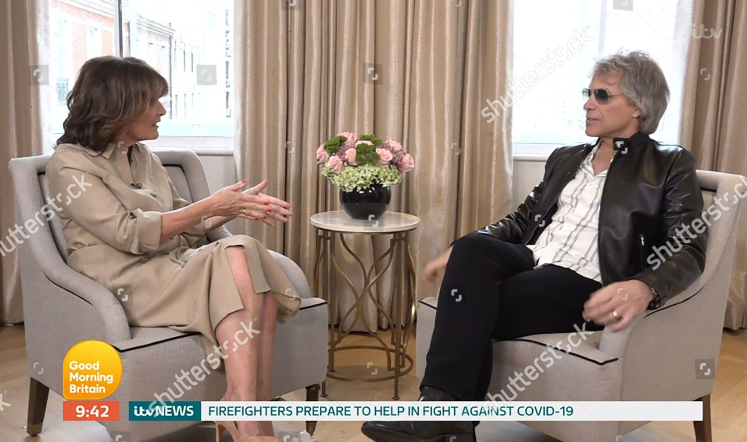 Stock photo of 'Good Morning Britain' TV show, London, UK - 27 Mar 2020
