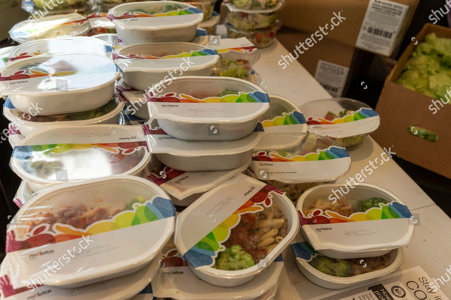 Packages Free Food Beatstro Restaurant Amid Covid19 Foto Editorial