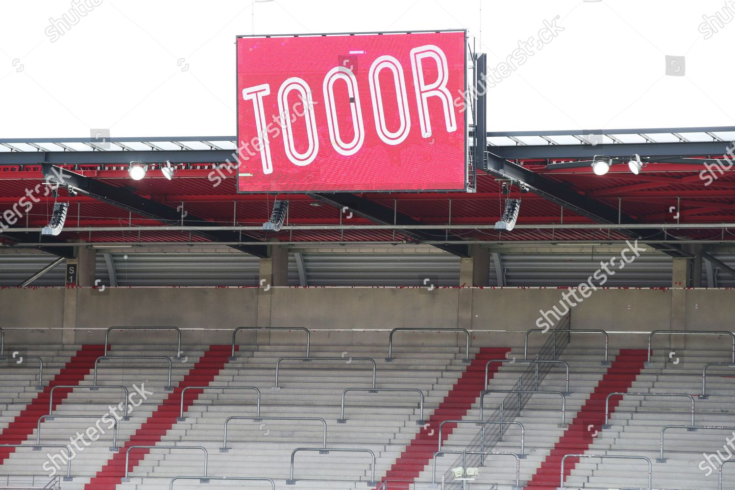 Word Goal Displayed On Stadium Scoreboard During Editorial Stock Photo Stock Image Shutterstock