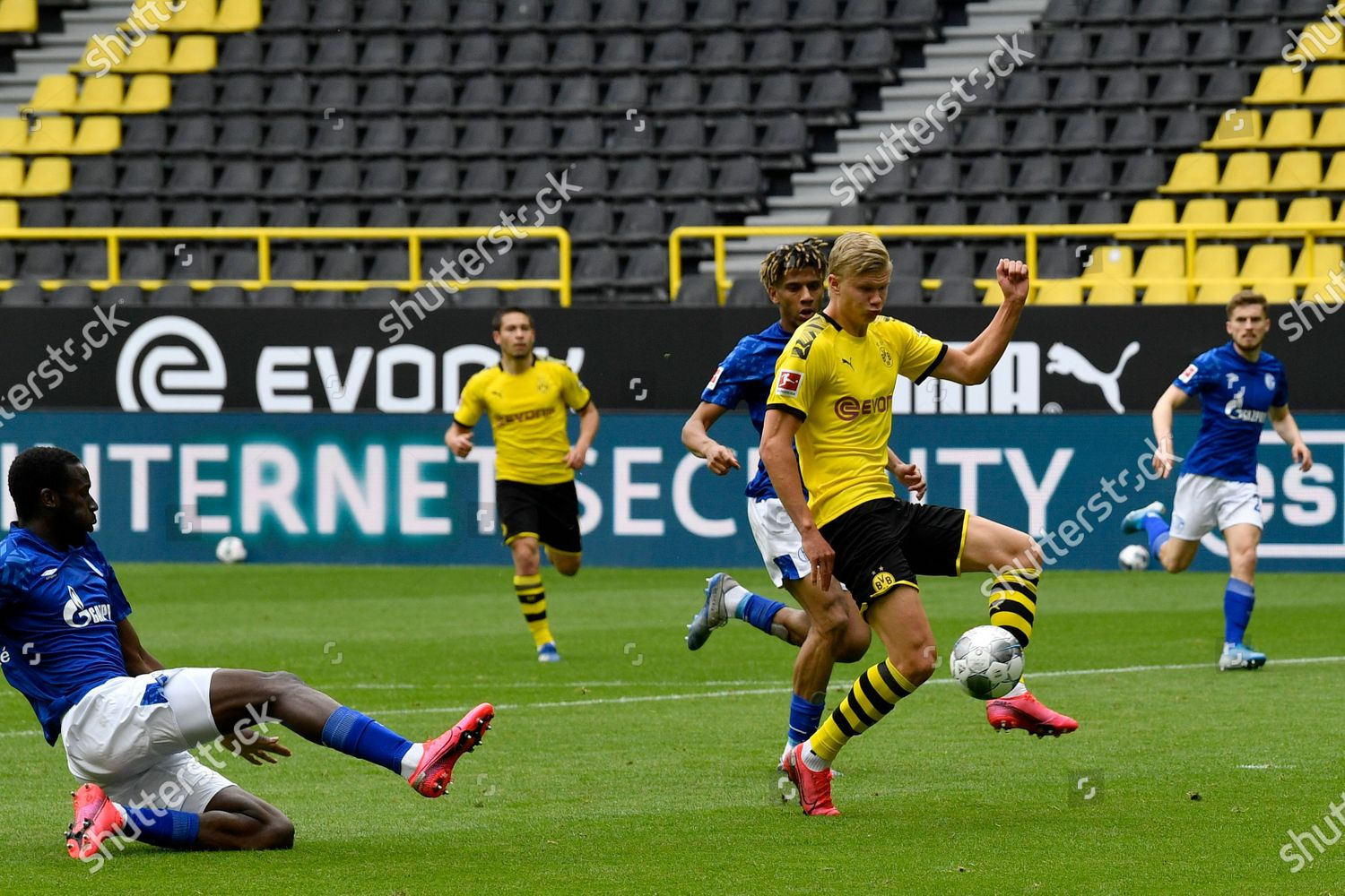Dortmunds Erling Haaland Scores Opening Goal During Editorial Stock Photo Stock Image Shutterstock