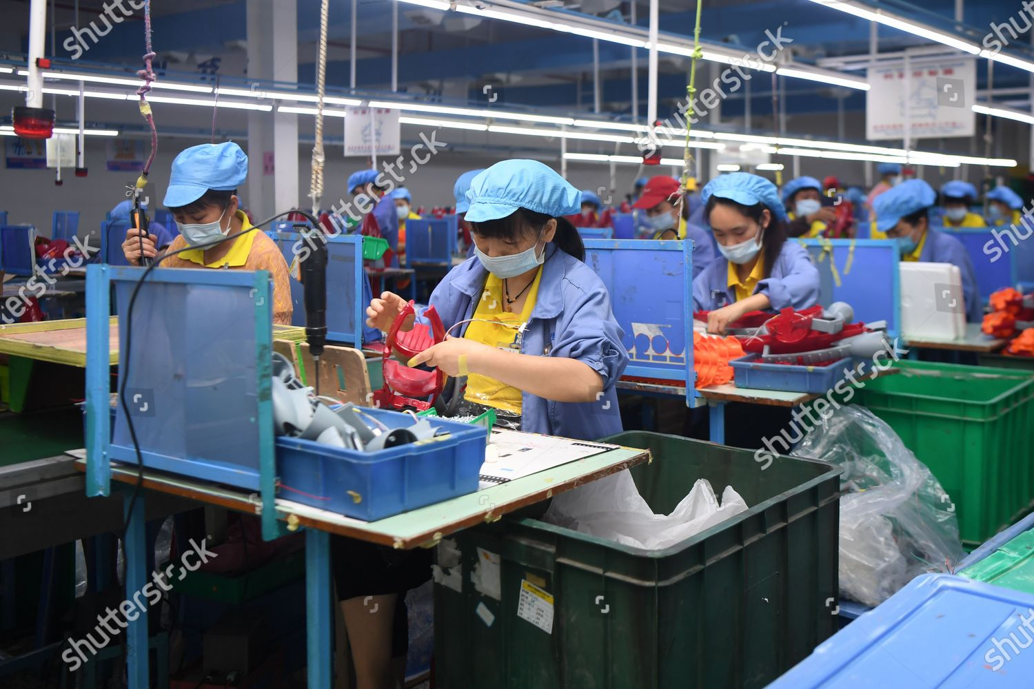 workers make toys plastic product factory zhangjiajie editorial stock photo stock image shutterstock 2