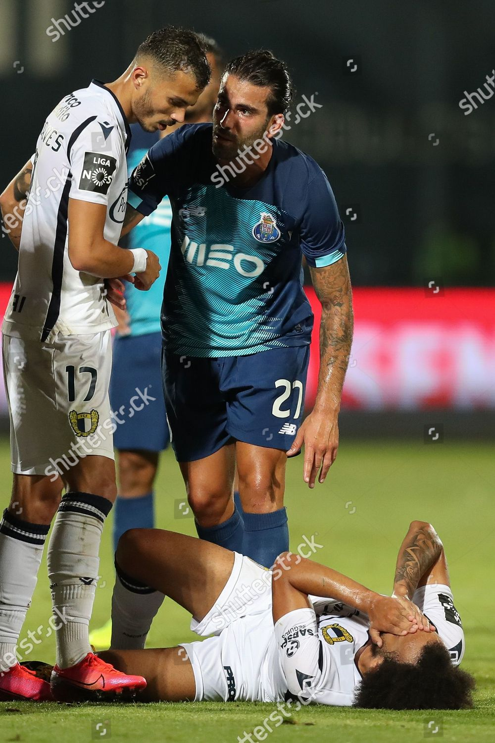 Famalicao s Fabio Martins R reacts during Editorial Stock Photo - Stock  Image