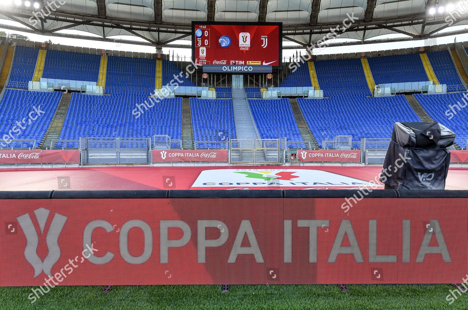 General view empty stands before Italian Cup Redaktionelles Stockfoto –  Stockbild