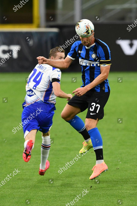 Milan Skriniar Inter Jakub Jankto Sampdoria Editorial Stock Photo Stock Image Shutterstock