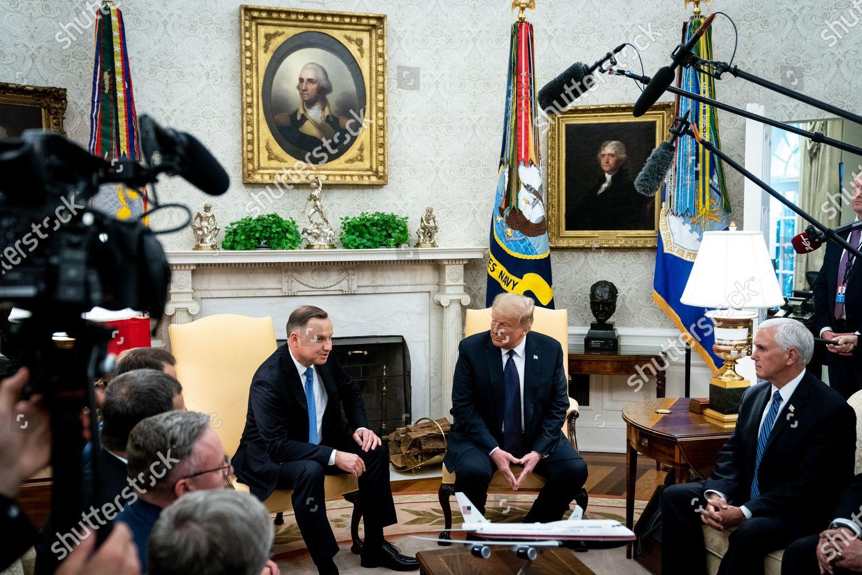 United States President Donald J Trump Polish Foto Editorial En Stock Imagen En Stock Shutterstock