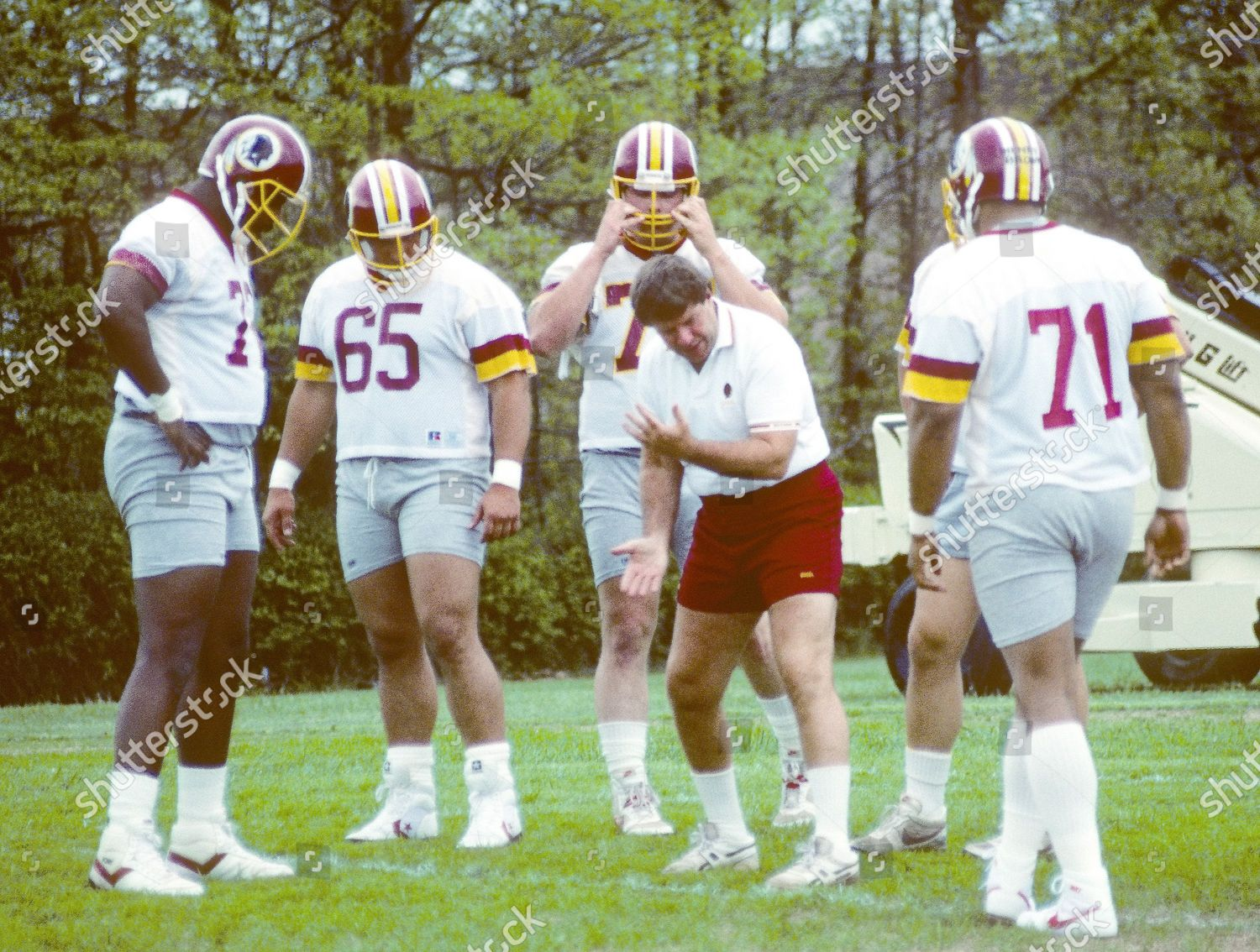 Foto de stock de 1988 Washington Redskins Mini-Camp, Herndon, Virginia, USA - 11 May 1988