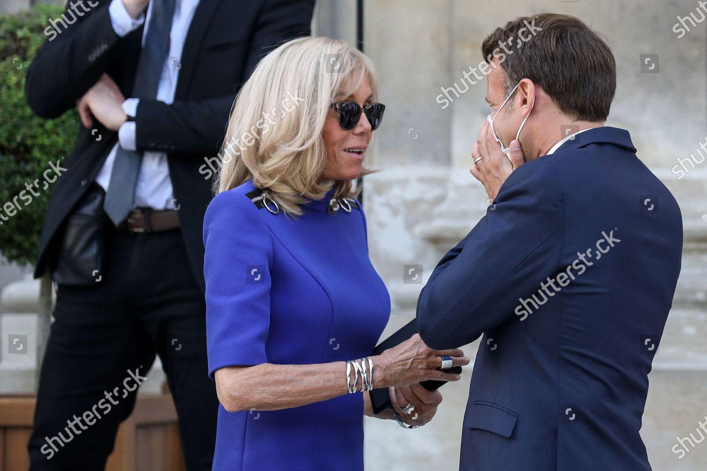 French President Emmanuel Macron Wearing Face Mask Editorial Stock Photo Stock Image Shutterstock