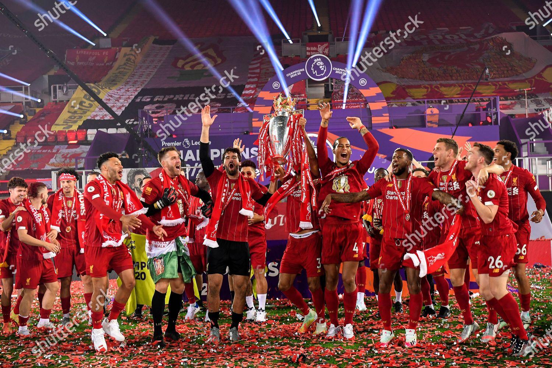 Team Liverpool Celebrates Premier League Trophy Following Editorial Stock Photo Stock Image Shutterstock