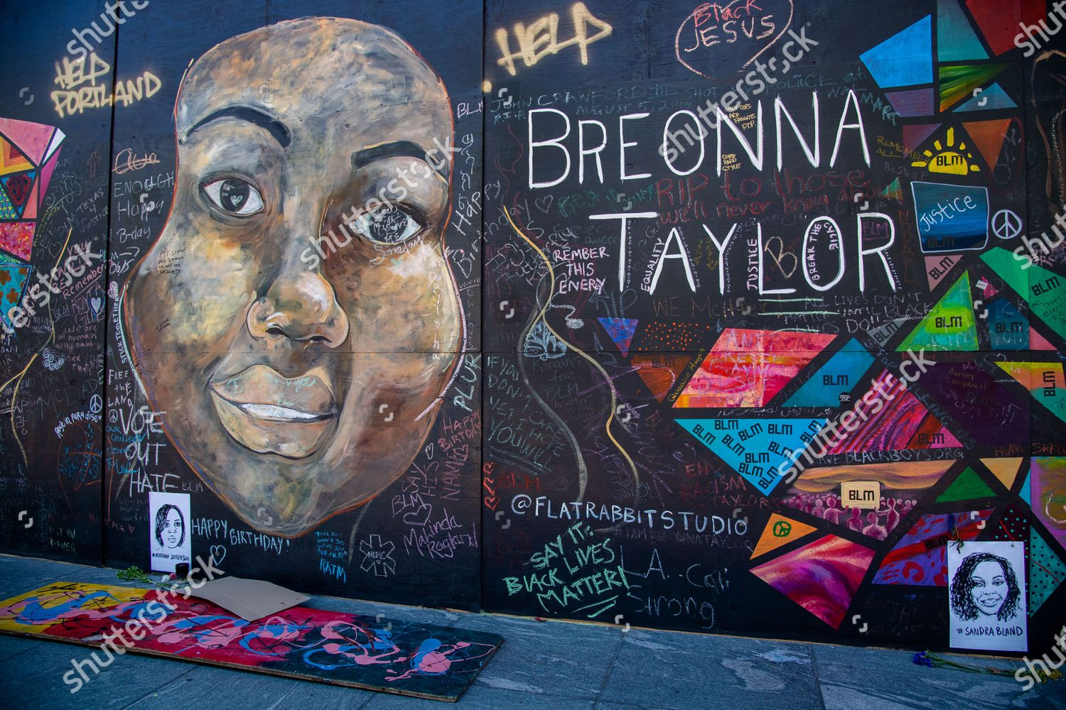 Mural Breonna Taylor Seen Near Justice Center Editorial Stock Photo Stock Image Shutterstock