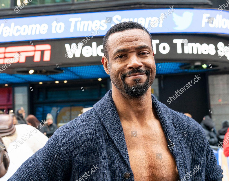 ภาพสต็อกของ NY: Old Spice promotion on Times Square, New York, United States - 23 Jan 2020