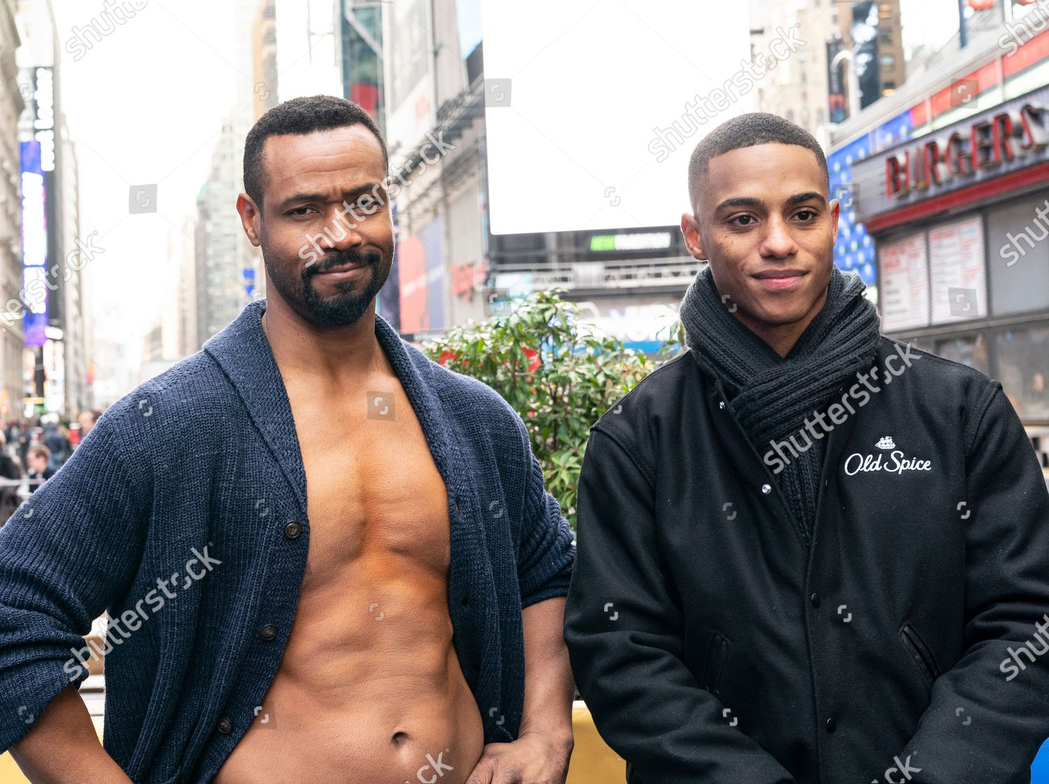 Stock fotografie na téma NY: Old Spice promotion on Times Square, New York, United States - 23 Jan 2020