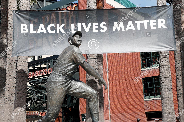 Black Lives Matter Banner Raised Behind San Editorial Stock Photo Stock Image Shutterstock